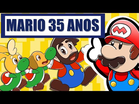 35 anos SUPER MARIO BROS. no DESAFIO DE DESENHO – Super Mario Bros. 35th Anniversary Direct Nitendo