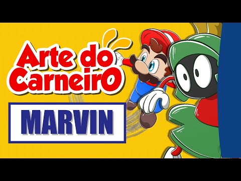 Como desenhar SUPER MARIO e MARVIN de LOONEY TUNES | Drawing Super Mario and MARVIN   Time-lapse