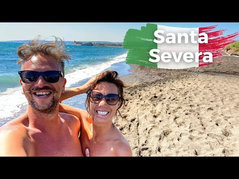 We went to a black sand Naturist Beach and a Dead City near Rome | Italy Road Trip Ep 8